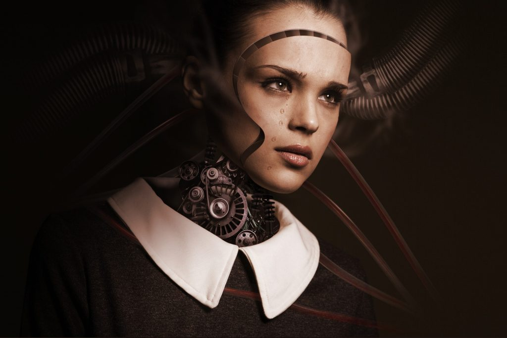AI artificial intelligence robot woman